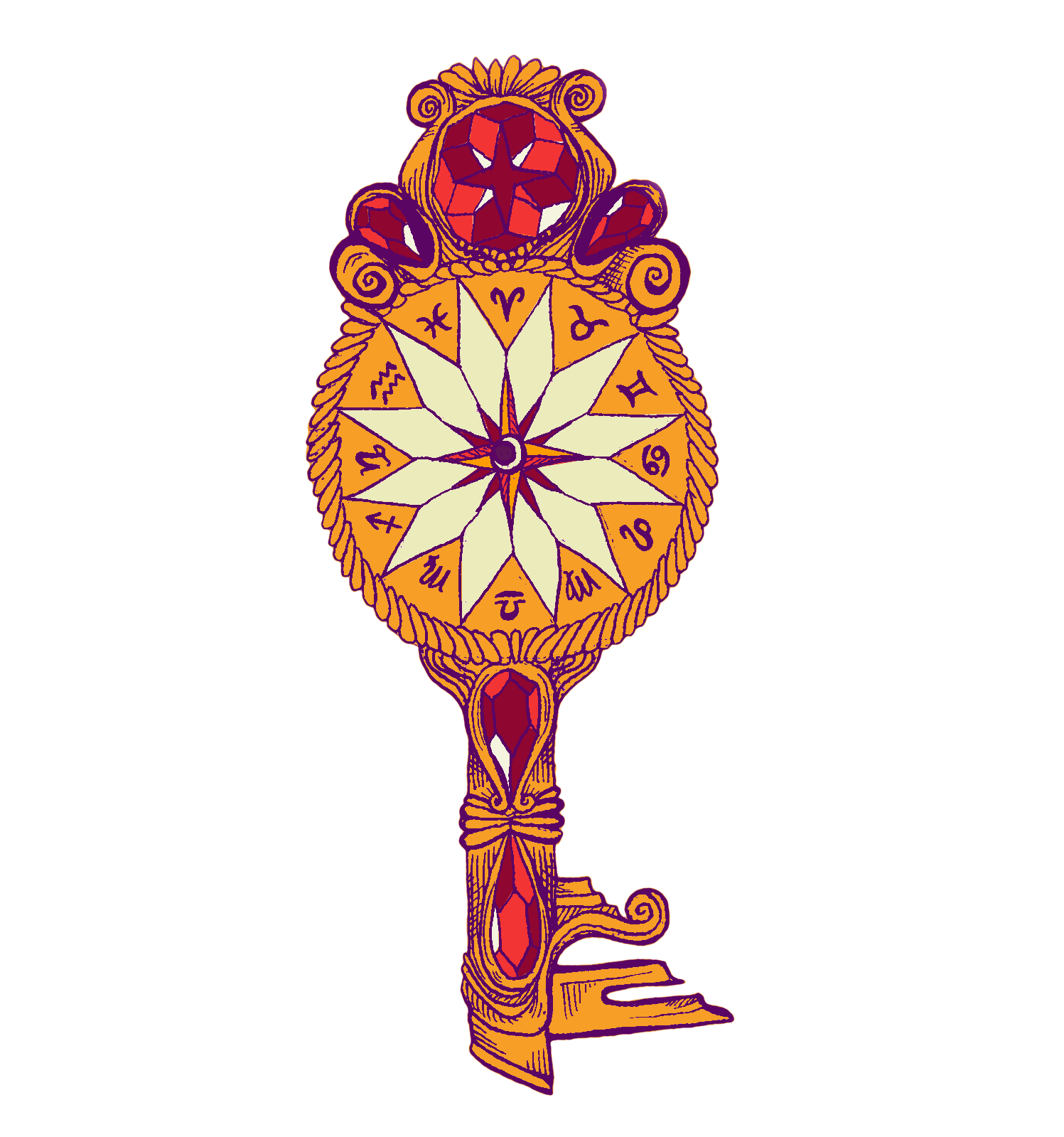 jewel-decked astrology key