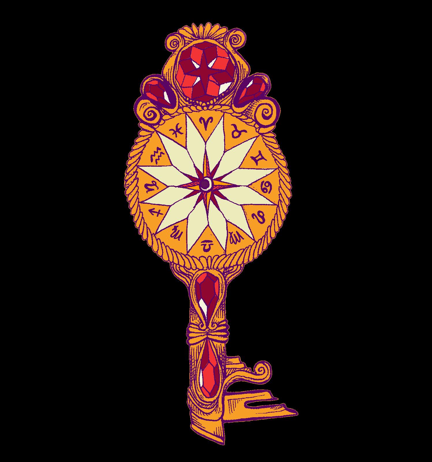 jewel-decked astrology key